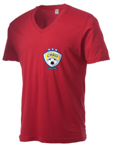 Chad Soccer Alternative Men's 3.7 oz Basic V-Neck T-Shirt
