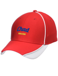 Chad Soccer Embroidered New Era Contrast Piped Performance Cap