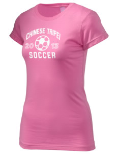 Chinese Taipei Soccer  Juniors' Fine Jersey Longer Length T-Shirt
