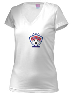Chinese Taipei Soccer Juniors' Fine Jersey V-Neck Longer Length T-shirt