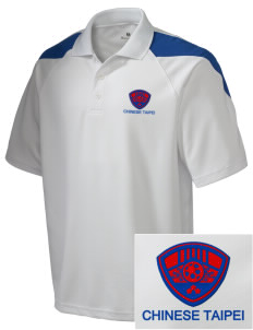 Chinese Taipei Soccer Embroidered Holloway Men's Frequency Performance Pique Polo