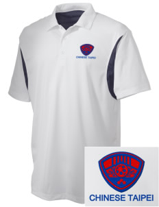 Chinese Taipei Soccer Embroidered Men's Back Blocked Micro Pique Polo