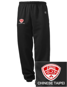 Chinese Taipei Soccer Embroidered Champion Men's Sweatpants