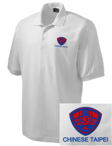 Chinese Taipei Soccer Embroidered Nike Men's Pique Knit Golf Polo