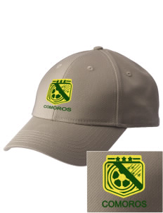 Comoros Soccer  Embroidered New Era Adjustable Structured Cap
