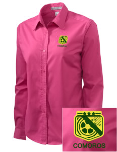 Comoros Soccer Embroidered Women's Easy-Care Shirt