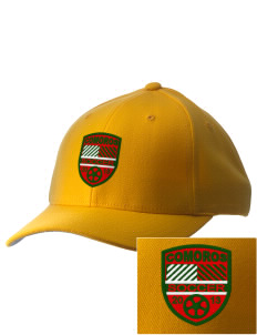 Comoros Soccer Embroidered Pro Model Fitted Cap