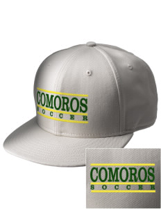 Comoros Soccer  Embroidered New Era Flat Bill Snapback Cap