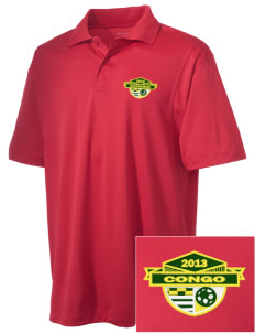 Congo Soccer Embroidered Men's Micro Pique Polo