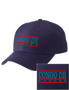 Congo DR Soccer  Embroidered New Era Adjustable Structured Cap