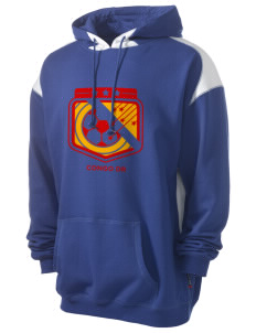Congo DR Soccer Men's Pullover Hooded Sweatshirt with Contrast Color
