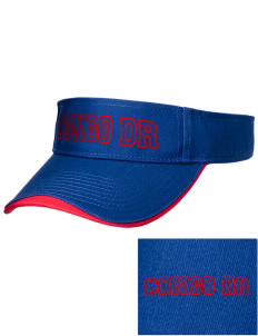 Congo DR Soccer Embroidered Binding Visor