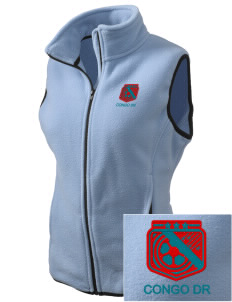 Congo DR Soccer Embroidered Women's Fleece Vest