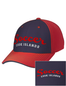 Cook Islands Soccer Embroidered M2 Contrast Cap with Puffy 3D Designs