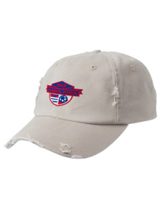 Costa Rica Soccer Embroidered Distressed Cap