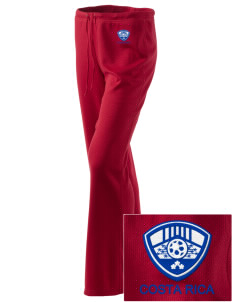 Costa Rica Soccer Embroidered Women's Mesh Knit Pants