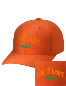 Cote d'Ivoire Soccer Embroidered Wool Adjustable Cap