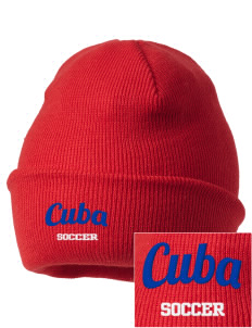 Cuba Soccer Embroidered Knit Cap