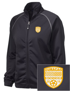 Curacao Soccer Embroidered Holloway Women's Attitude Warmup Jacket