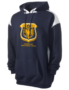 Curacao Soccer Men's Pullover Hooded Sweatshirt with Contrast Color