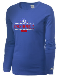 Czech Republic Soccer  Russell Women's Long Sleeve Campus T-Shirt