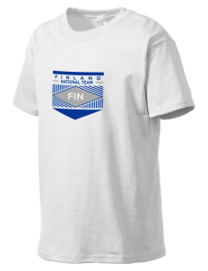 Finland Soccer Kid's Lightweight T-Shirt