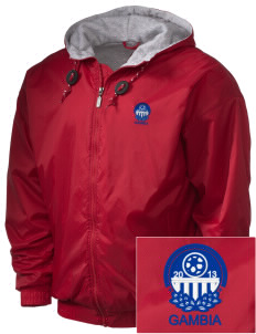 Gambia Soccer Embroidered Holloway Men's Hooded Jacket