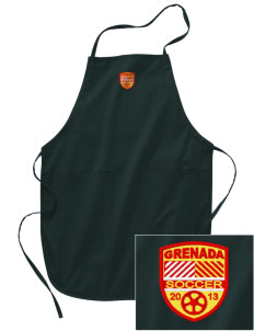 Grenada Soccer Embroidered Full Length Apron