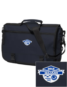 Guam Soccer Embroidered Expandable Briefcase