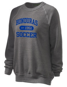 Honduras Soccer Unisex Alternative Eco-Fleece Raglan Sweatshirt