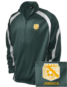 Jamaica Soccer Embroidered Holloway Men's Tricotex Warm Up Jacket