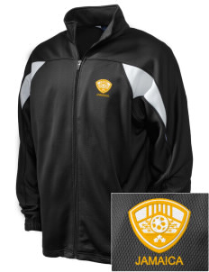 Jamaica Soccer Embroidered Holloway Men's Full-Zip Track Jacket