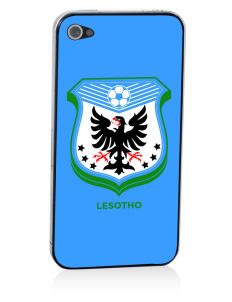 Lesotho Soccer Apple iPhone 4/4S Skin