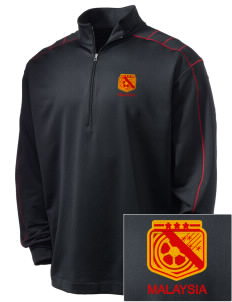 Malaysia Soccer Embroidered Nike Men's Golf Dri-Fit 1/2 Zip
