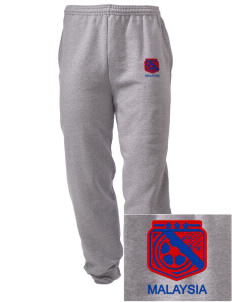 Malaysia Soccer Embroidered Men's Sweatpants with Pockets
