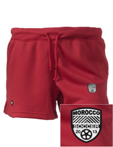 "Morocco Soccer Embroidered Holloway Women's Balance Shorts, 3"" Inseam"