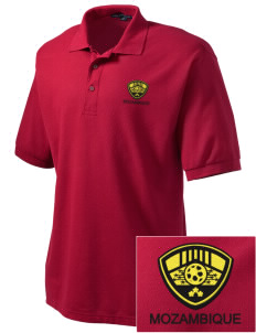 Mozambique Soccer Embroidered Tall Men's Silk Touch Polo