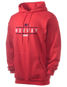 Norway Soccer Men's 7.8 oz Lightweight Hooded Sweatshirt