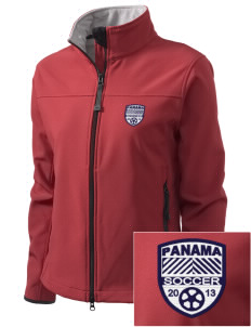 Panama Soccer Embroidered Women's Glacier Soft Shell Jacket