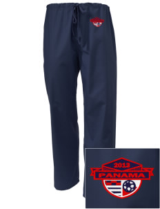 Panama Soccer Embroidered Scrub Pants