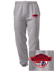 Panama Soccer Embroidered Men's Sweatpants with Pockets