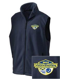 Romania Soccer Embroidered Unisex Wintercept Fleece Vest