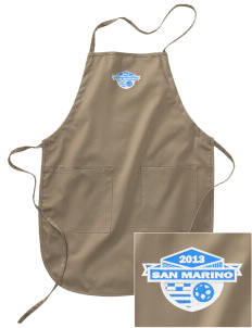San Marino Soccer Embroidered Full Length Apron