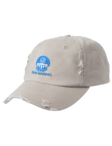 San Marino Soccer Embroidered Distressed Cap