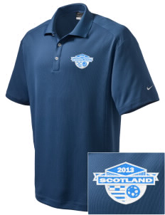 Scotland Soccer Embroidered Nike Men's Dri-Fit Classic Polo