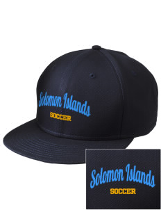 Solomon Islands Soccer  Embroidered New Era Flat Bill Snapback Cap
