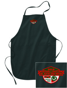 St. Kitts and Nevis Soccer Embroidered Full Length Apron