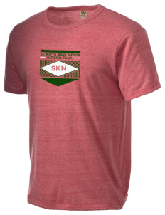 St. Kitts and Nevis Soccer Alternative Men's Eco Heather T-shirt