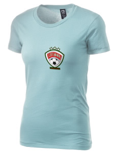 St. Kitts and Nevis Soccer Alternative Women's Basic Crew T-Shirt