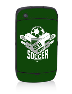 St. Kitts and Nevis Soccer Black Berry 8530 Curve Skin